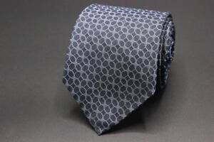 JOHN-VARVATOS-7-Fold-Skinny-Silk-Tie-Blue-Geometric-Made-in-Italy-59-034-x-3-034