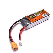 1500mAh 11.1V 3S 40C XT60 Plug-Lipo batterie pour hélicoptère RC Airplane Car