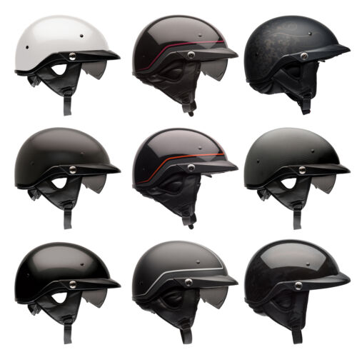 Bell Pit Boss Motorcycle Half Helmet with Sun Visor XS//SM MD LG XL//XXL XXXL