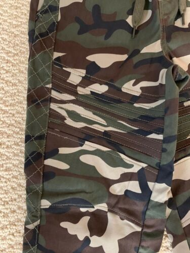 NWT Boy/'s Retro Stitch Green Camouflage Moto Detail Jogger Pants ALL SIZES 8-12
