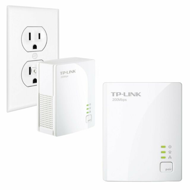 Pre owned TP-LINK TL-PA2010 200Mbps Nano Powerline Adapter pair WITHOUT cable.