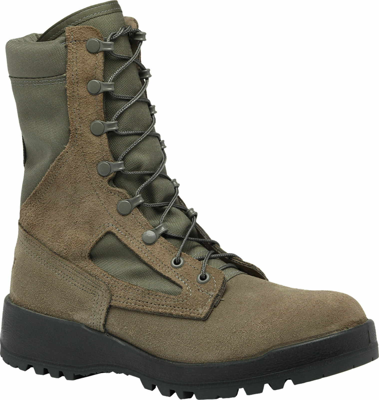 Belleville Hot Weather Steel Toe Boots 600ST Sage Leather Sz 6.5R - NEW IN BOX
