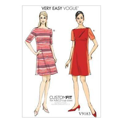 Vogue Sewing Pattern V9183 Women/'s Misses/' Panel Dresses