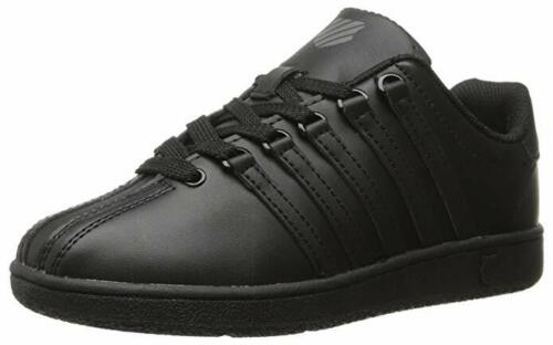 K Swiss Classic VN Leather All Black Baby Infants Toddler Boys Girls Shoes Sizes