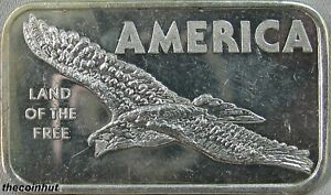 1-oz-America-Land-of-the-Free-999-Fine-Silver-Bar-American-Argent-Mint-CH5167