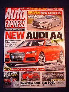 Auto Express Kia >> Details About Auto Express 1262 Audi A4 Kia Soul Fiat 500l Lexus Is