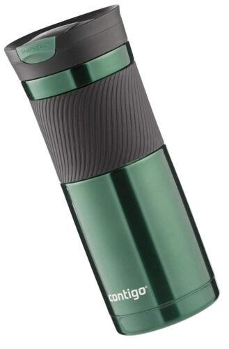 Vacuum-Insulated Stainless Steel Travel Mug 20 Ounce Leak Proof Grayed Jade New