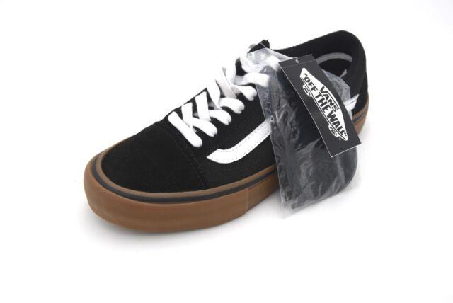 Vans Old Skool Pro Scarpe da Skate UK 7 Nerobianco gomma