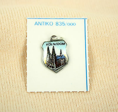 ANTIKO Bettel Armband Wappen Anhänger Charm Emaille Silber 835 Kölner Dom OVP