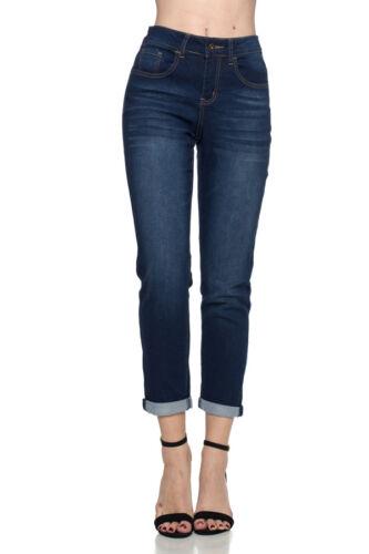NWT WOMEN Dark Indigo STRETCH Boyfriend Jeans Style#16321 MISSY SIZE 4 /& 8