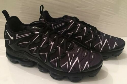 4edfa4610d8 1 sur 10 Nike Air Vapormax Plus HL Zig Zag Size 10 UK 45 EUR Black White  AJ6312 001