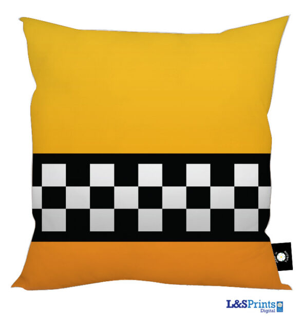 "NEW YORK TAXI DESIGN 18"" X 18"" CUSHION GREAT GIFT IDEA HOME ACCESSORY"
