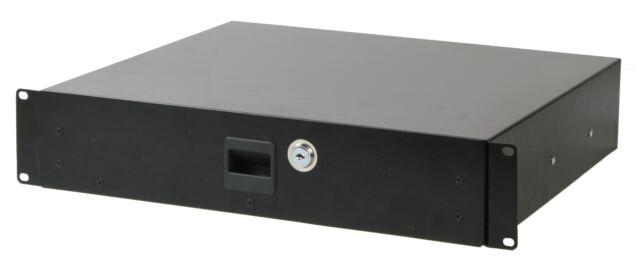 Microphone Storage 210mm Studio Storage Pulse 19inch 2u Locking Rack Drawers