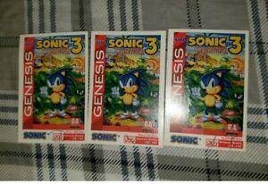 Sonic The Hedgehog 3 Sega Game Genesis Tip Card 31 33 Ebay