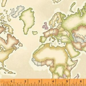 Meridian fabric world map beige 50035 1 windham yard image is loading meridian fabric world map beige 50035 1 windham gumiabroncs