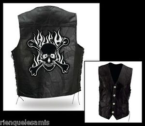 Lacets Cuir Gilet With Laces En Leather Vest wzEqW07E