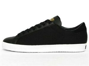 Hommes Vintage Chaussures Laver Espadrilles Adidas Rod Cuir Noir ZPukiTOX