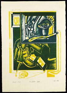 Kritischer-Realismus-1968-Lithographie-Wolfgang-PETRICK-1939-D-handsigniert
