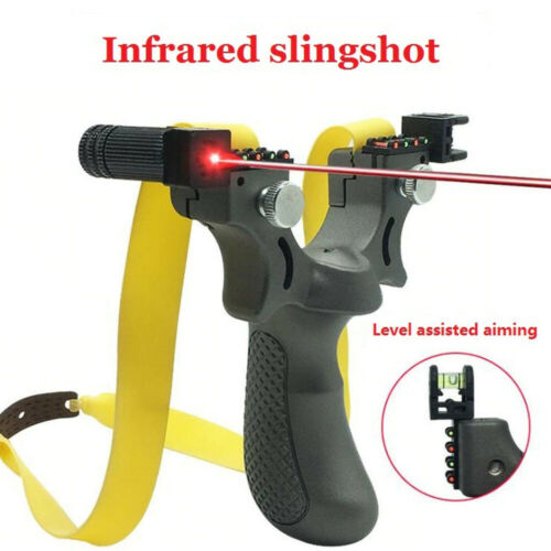 Details about  /Professional Laser Hunting Catapult Slingshot Guided Rubber Bands Outdoor Shoot