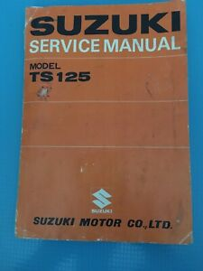 Suzuki-TS125-Factory-Service-Manual-OEM-1970-Vintage