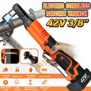 42V-3-8-039-039-90Nm-Electric-Cordless-Ratchet-Right-Angle-Wrench-Tool-8000mAh-Battery