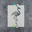 Durable /& Reusable Mylar Stencils Flamingo Stencil
