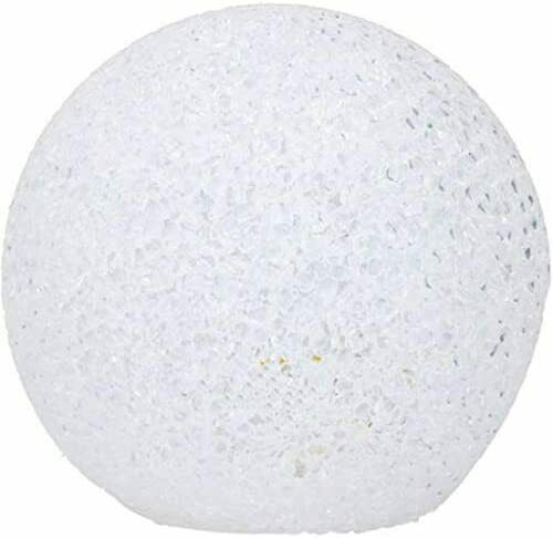 Weihnachtskugel weiß 2 LED 15 cm GRUNDIG Dekokugel Weihnachten Winter