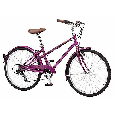 24 in Schwinn Girl's Hybrid Style Bike Mifflin, Magenta