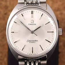 Authentic Omega Seamaster Cosmic Silver Dial Stainless Steel Manual Mens Watch