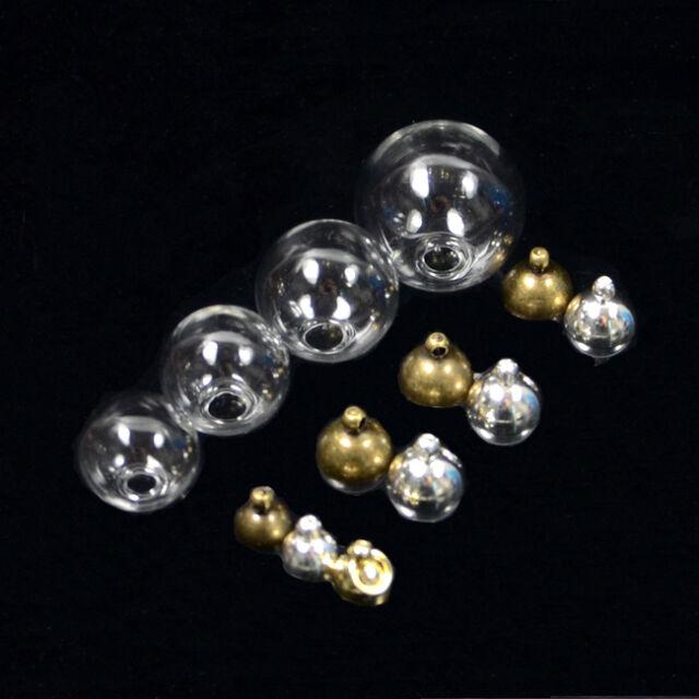 Round Glass Pendant Wishing Bottle Creative Diy Jewelry Accessories Charm Bottle