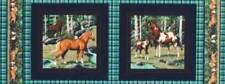 Cranston VIP ~ WILD ABOUT HORSES Pintos ~ 2 Pillow Panels 100% Cotton Fabric