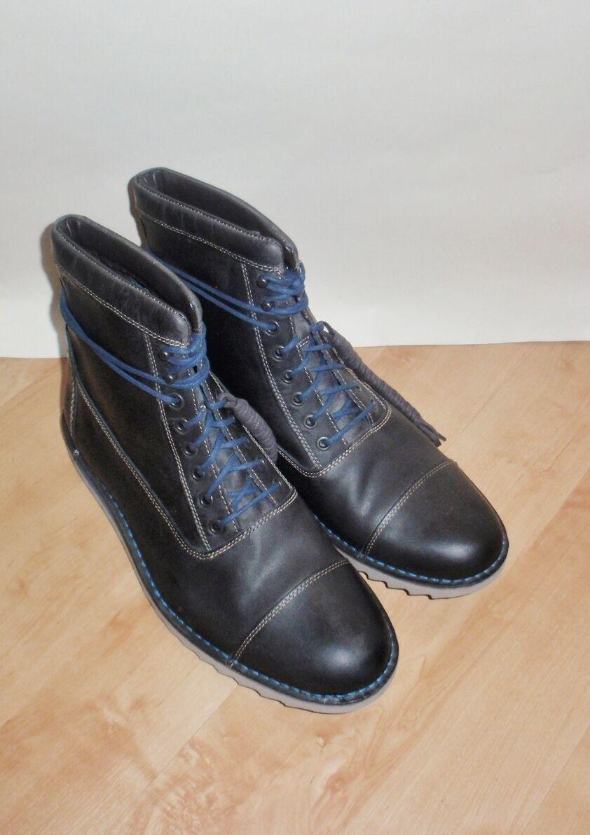 Moda barata y hermosa Nuevo Para Hombre Clarks Newby Para Cuero Con Cordones Botas De Invierno Size G