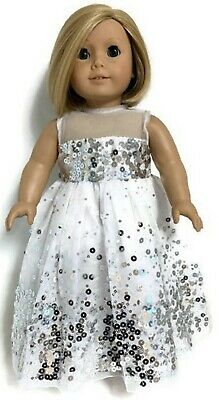 Doll Clothes fit 18 inch American Girl Doll Sequin Leggings Pair White and Black