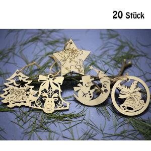 Weihnachtsdekoration Holzanhanger Christbaumschmuck