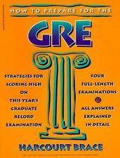 How to Prepare for the GRE (Harvest Test Preparation Book)-ExLibrary