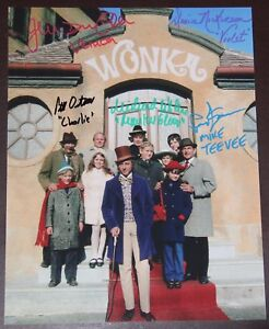11-034-X-14-034-WILLY-WONKA-EXTERIOR-SCENE-AUTOGRAPHED-SIGNED-BY-FIVE-BONUSES