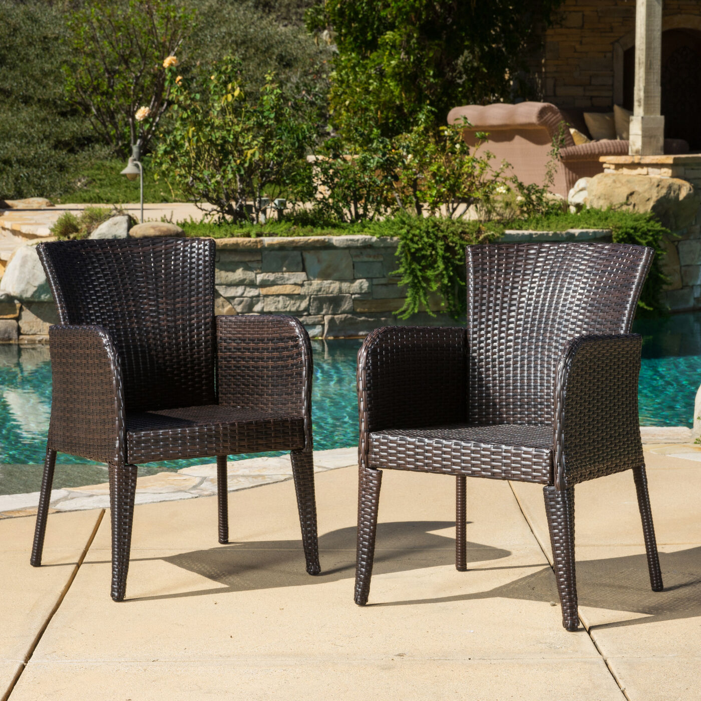 Outdoor Patio Furniture For Small Deck: Outdoor Patio Set Modern Rattan Bistro Contemporary Wicker