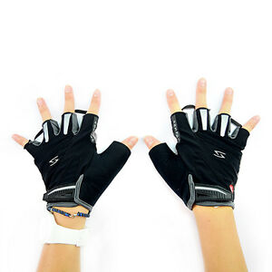 Serfas-RX-Bike-Bicycle-Cycling-Half-Short-Finger-Fingerless-Gloves-Black-M