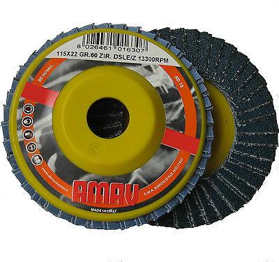 Disco Abrasivo Lamellare Carta Vetrata Smerigliatrice Grana 60 Diam 115mm dfh