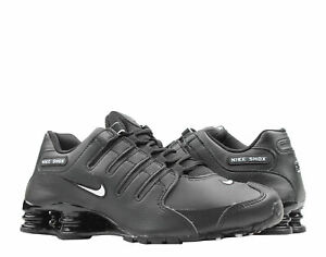 best service 3bf29 587dd Image is loading Nike-Shox-NZ-EU-Black-White-Men-039-