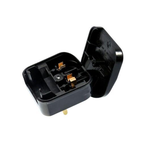 "Euro Converter Plug Black Safe /""Seal In/"" Design Converts Euro Plugs to UK"
