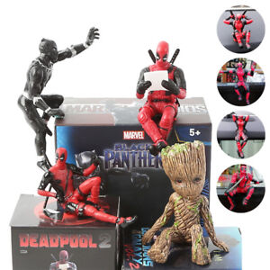 Mini-Deadpool-Baby-Groot-Action-Figures-X-Men-PVC-Toy-Collection-Car-Accessories