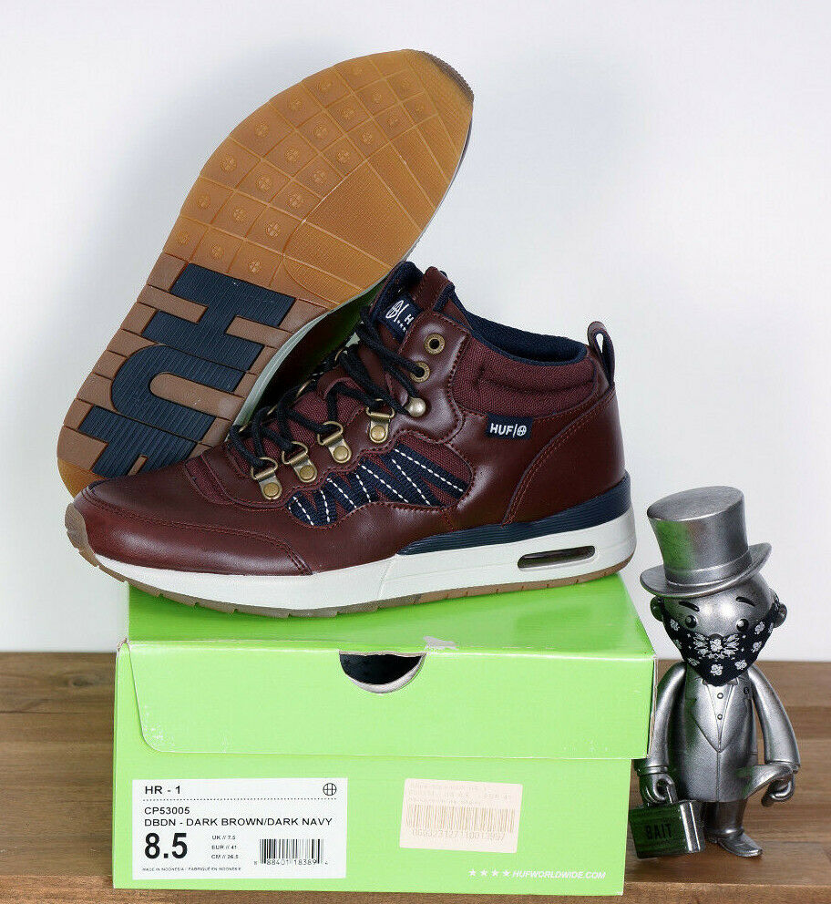 DéLicieux Huf Worldwide Footwear Skate Chaussures Shoes Hiver Hr-1 Dark Brown Navy 8/40, 5 La RéPutation D'Abord