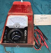 Vintage Lafayette Volt Meter Model Te 60