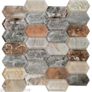 Superb Details About Beige Brown Hexagon Pattern Matte Glass Mosaic Tile Kitchen Shower Backsplash Download Free Architecture Designs Scobabritishbridgeorg