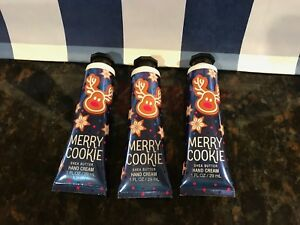 BATH & AND BODY WORKS SHEA HAND CREAM MERRY COOKIE CHRISTMAS LOT OF 3 NEW   eBay