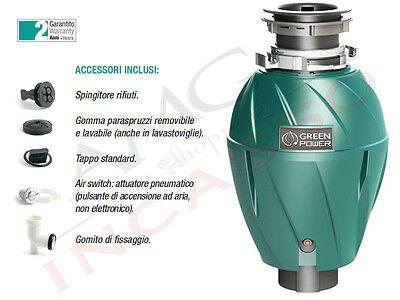Tritarifiuti Dissipatore Elleci modello 500 TDM00500 Green Power 375 Watt HP 1/2