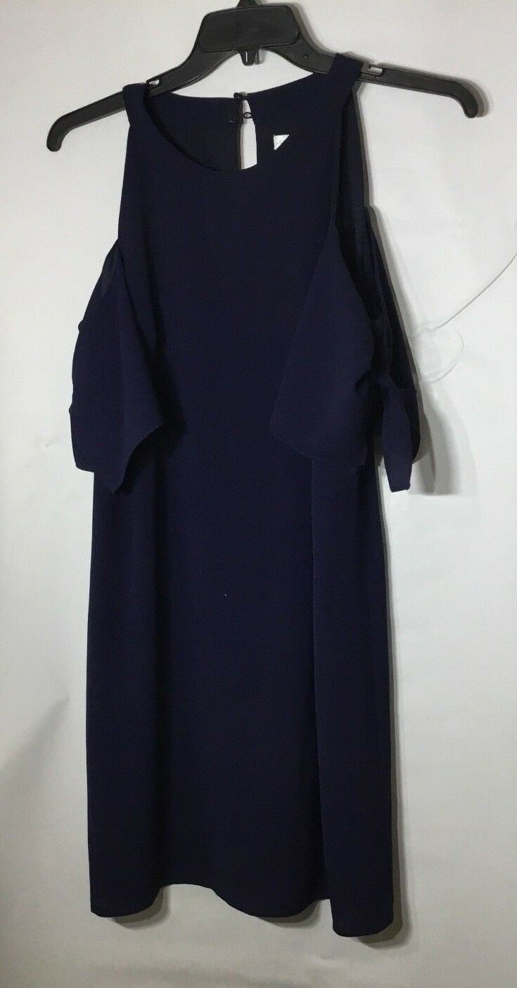 Women's London Times Navy Cold Shoulder Cut Out Dress Size 12
