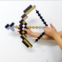Us Ship Minecraft Bow And Arrow Toys Props Plastic Bow & Eva Foam Arrow Gift