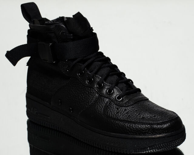 reputable site efce6 892cf Nike SF Air Force 1 Mid AF1 men lifestyle sneakers NEW all black 917753-005